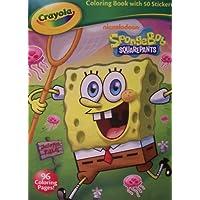 スポンジ?ボブCrayola Coloring Book with 50 Stickers ~クラゲフィールド。( 2013 )