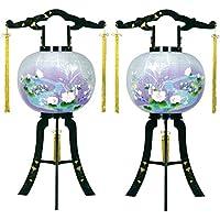 盆提灯 11号 対仕様(左右2台1組) 置き型 あかり 廻転灯付 高さ88cm 電気コード式 日本製 行灯 盆提灯 八女提灯