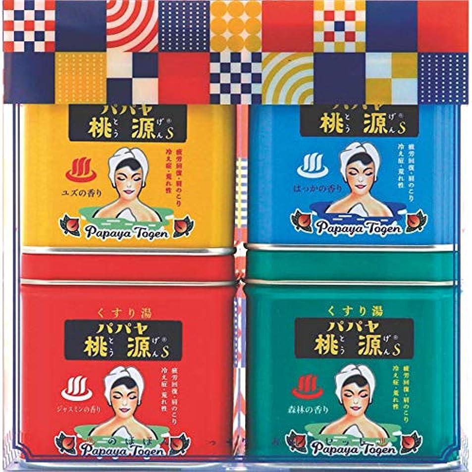 傘祭司群がるパパヤ桃源 のほほん湯っくりお風呂セットC (五洲薬品)