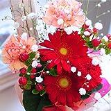 そのまま飾れるブーケ スイーツセット 花 ギフト 花束 ガーベラ プレゼント 送料無料 花 ギフト お祝いの花 贈り物
