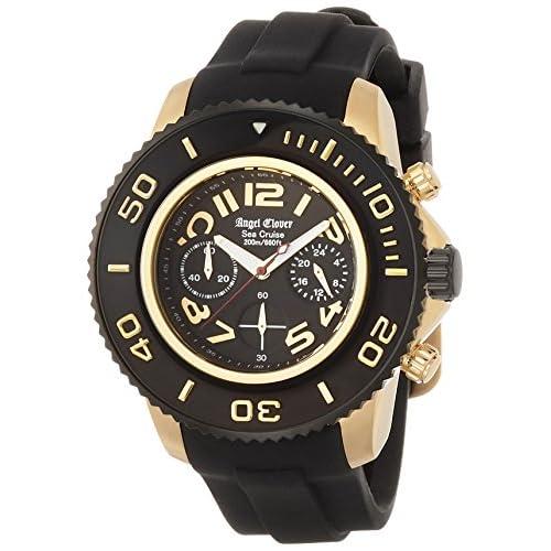[エンジェルクローバー]Angel Clover 腕時計 シークルーズ ブラック文字盤 クロノグラフ 200m防水 SC47YBK-BK メンズ