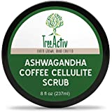 TreeActiv Ashwagandha Coffee Cellulite Scrub Anti Cellulite Treatment Natural Cellulite Remover from Legs and Body Caffeine, Juniper Berry and Pink Grapefruit Essential Oil, Cocoa Bioferment 240ml