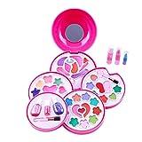 TheChoice コスメティックセット メイクアップ おもちゃ 子供向け お化粧 セット 女の子 プレゼント 5プレート ハンバーガー形のケース