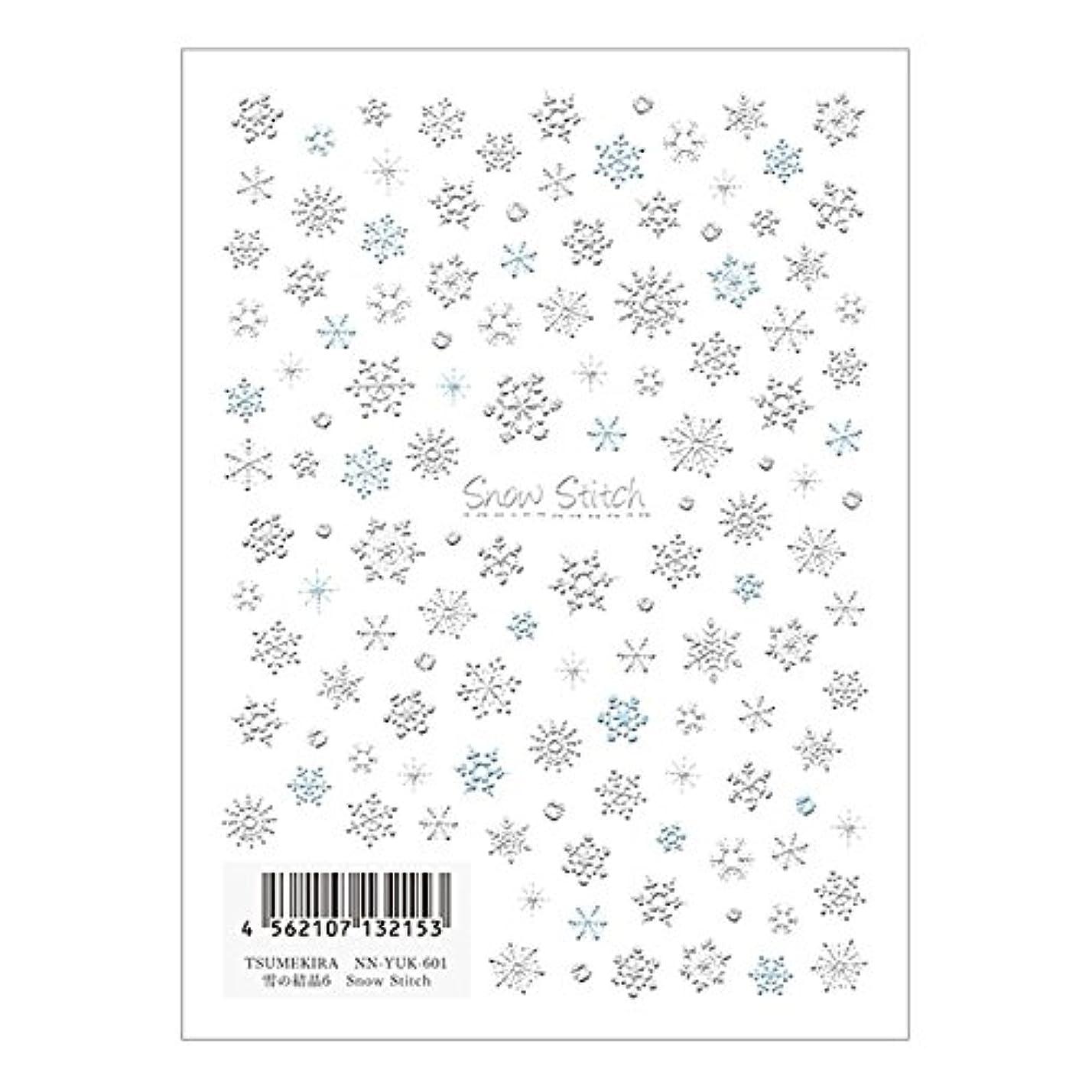盗難バンド信仰TSUMEKIRA ネイルシール雪の結晶6 NN-YUK-601