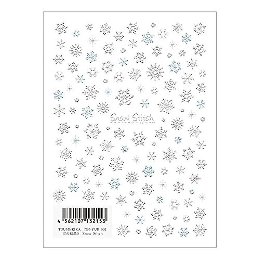 レシピわかりやすい感覚TSUMEKIRA ネイルシール雪の結晶6 NN-YUK-601