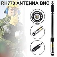 無線アンテナデュアルバンドウォーキートーキーアンテナRH770 BNC 144 / 430Mhz拡張可能テレコムアンテナIcom IC-V8 IC-V82 TH28A トランシーバー