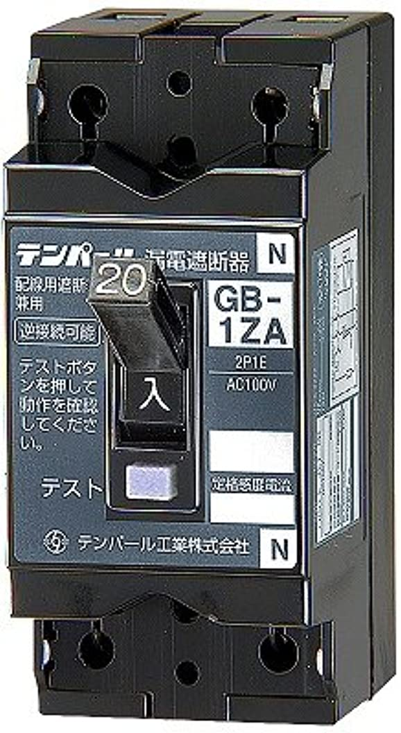 細菌ジェスチャー血統テンパール工業 小型漏電遮断器 OC付 20A 30mA 1ZA2030