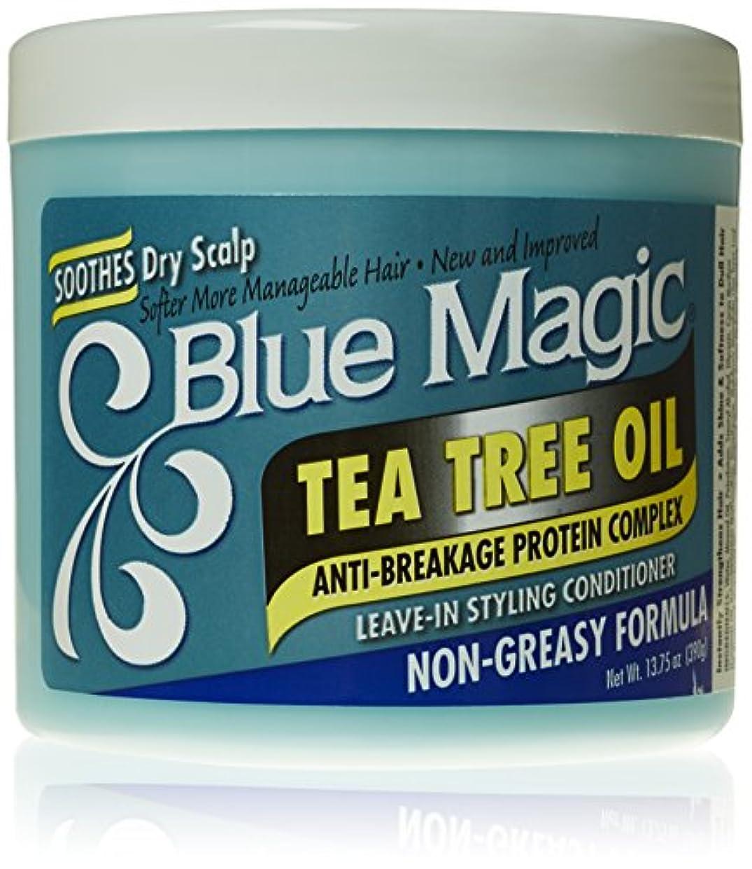 傾く最適胆嚢Blue Magic ティーツリーは、リーブインヘアスタイリングコンディショナー、13.75オンス