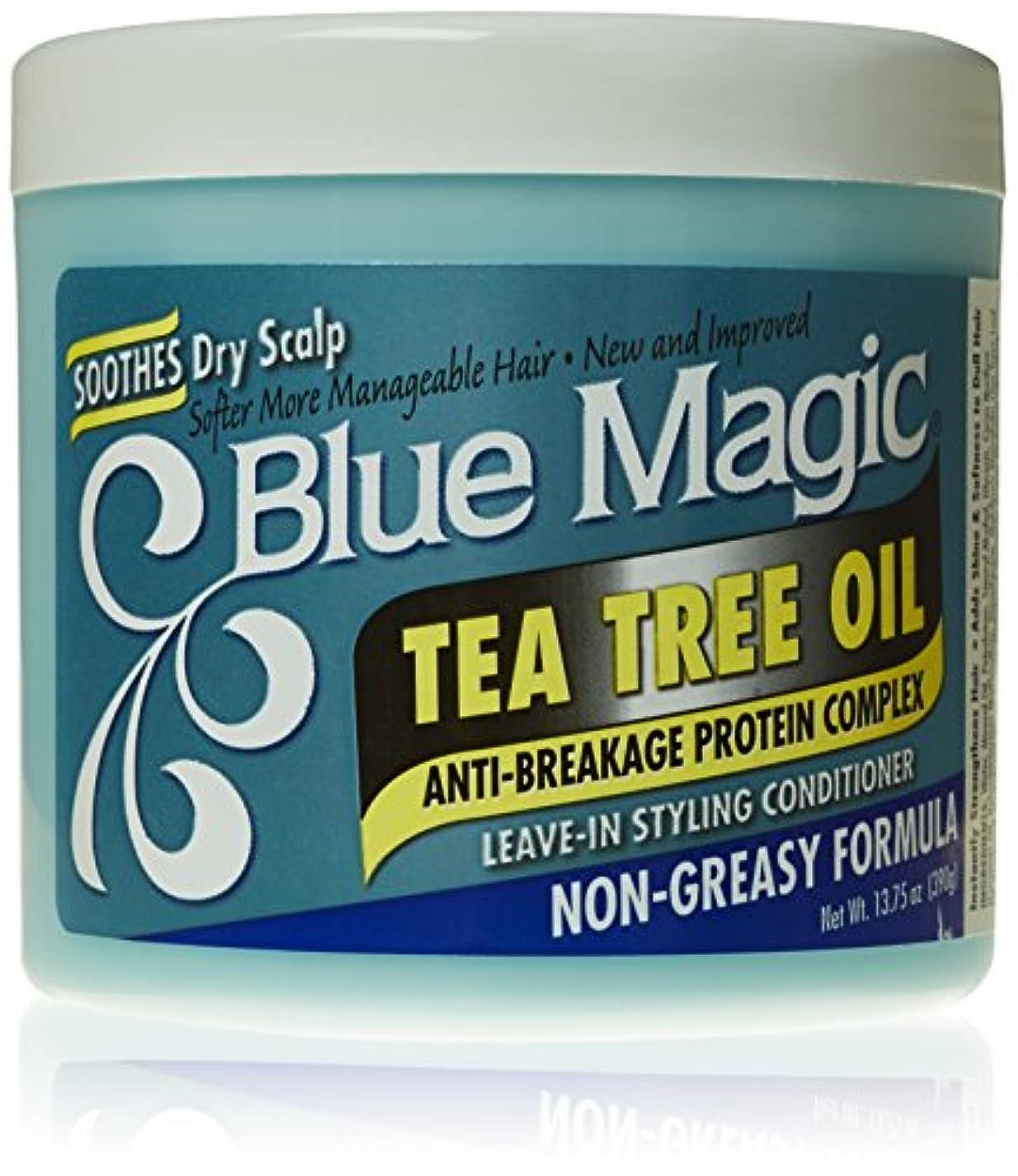 後ろに知恵忠実Blue Magic ティーツリーは、リーブインヘアスタイリングコンディショナー、13.75オンス