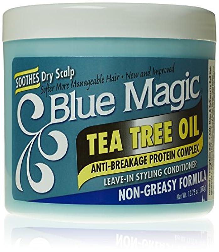 申し込む勢い蒸発Blue Magic ティーツリーは、リーブインヘアスタイリングコンディショナー、13.75オンス
