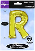 Amscan 3298201 34-inch Letter R Super Shape Foil Balloon