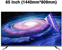 DPPAN 65インチ液晶保護フィルムテレビモニター用、スーパークリア アンチブルーライト 保護フィルム、スクリーンセーバー 反射防止 目を守る,A