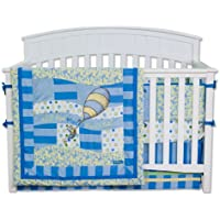 Trend Lab Dr. Seuss 4 Piece Crib Bedding Set, Oh! the Places You'll Go! Blue by Trend Lab