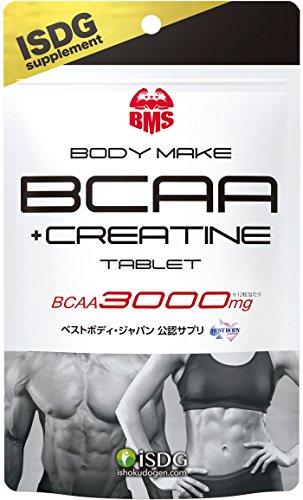 ISDG(医食同源ドットコム) BCAA + クレアチン タブレット クランベリーカシス味 180粒 BCAA 3000mg ボディ メイク シリーズ BMS