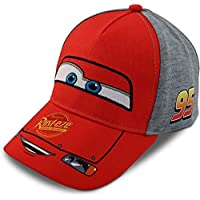 Disney Little Boys Cars Lightning McQueen Character Cotton Baseball Cap, Red/Grey, Age 2-7