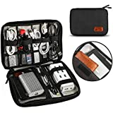 Travel Cable Organizer Bag, TERSELY Travel Gadget Cables Electronics Accessories Organizer Bag,Portable Tech Gear Phone Accessories Carrying Storage Case Bag for Headphone Earphone USB (Black)