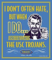 "UCLAサッカーファン。I Prefer to Hate the USC Trojans 12 "" x 14 ""メタルMan Caveサイン"