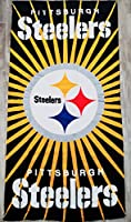 NFL Football Pittsburgh Steelers Licensed Bath and Wash Towels–2Pieceセット
