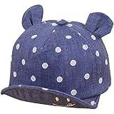 Sumenベビー夏キャップガールズBoys Sun Hat with耳キュートドット印刷ユニセックス幼児キャップ