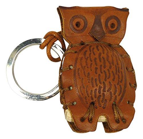 [해외]LA CUOIERIA (라 쿠오이에리아) 열쇠 고리 핸드 메이드 가죽 이탈리아 올빼미 P292/LA CUOIERIA (La · quoieria) key chain handmade leather Italian made owl P292