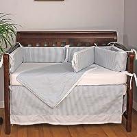 Hoohobbers Crib Bedding Set Baby Blue 4 Piece [並行輸入品]