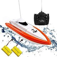 RCボート電動玩具ウォータークラフト子供用大人用リモートコントロールボートRCボート高速ボートラジコンモーターボート、子供用リモートコントロール玩具ギフト、初心者用ボート