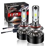 【最新モデル登場】LIMEY HB3 LED ヘッドライト バイク/車用 車検対応 明るい 10000LM(5000LM*2) 60W(30W*2) 12V車対応(ハイブリッド車・EV車対応) ホワイト 6500K 放熱性抜群 静音ファン付き CSP社製ledチップ搭載 1年保証 日本語取説&保証書付 2個入