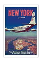 - ビンテージな航空会社のポスター c.1950 - アートポスター - 76cm x 112cm