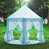 Hexagon Princess Play Tent Pink Kids Play House Large Indoor/Outdoor Tunnel Pop Up Toys for Baby Parent-Child Gift, Summer Sh