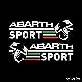 アバルト ABARTH サイドミラー ステッカー (1台分) 【輸入品】 ホワイト