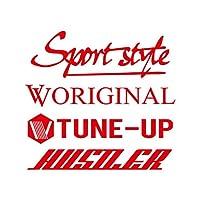 Sport style mix ハスラー カッティング ステッカー レッド 赤