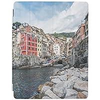 Apple iPad Air 2 ケース アップル アイパッド エアー2 カバー iPad air2,iPad 6 タブレットケース 高級PUレザー ビジネス 横開岩が多い海岸線 イタリア
