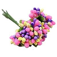 12pcs / lot 人工DIYの花のギフトボックス スクラップブッキング工芸 偽の花 カラフル