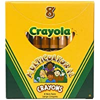 MulticulturalクレヨンLarge 8pk – -ケースof 13