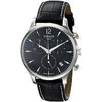 [ティソ] TISSOT 腕時計 トラディション ブラック文字盤 レザー T0636171605700 メンズ 【正規輸入品】