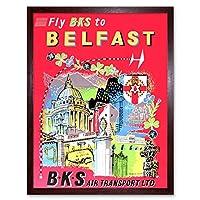 Travel Northern Ireland Belfast Art Print Framed Poster Wall Decor 12X16 Inch 旅行アイルランドポスター壁デコ