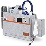 Bedside Pockets, Bedside Caddy ,T Tersely Bed Bunk Organizer Pocket Felt Hanging Storage Bag with Tissue Box and Water Bottle