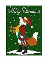 "Magnolia 29"" x 42"" "" Snooty Fox Merry Christmasダブルアップリケ""フラグ、ラージ"