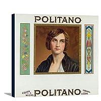 Politanoブランドシガーボックスラベル 24 x 21 7/8 Gallery Canvas LANT-3P-SC-27943-24x36