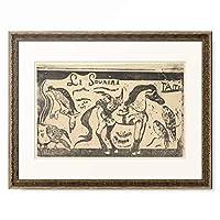 ポール・ゴーギャン Eugene Henri Paul Gauguin 「Le Sourire; Taiti (Smile; Tahiti), 1899.」 額装アート作品