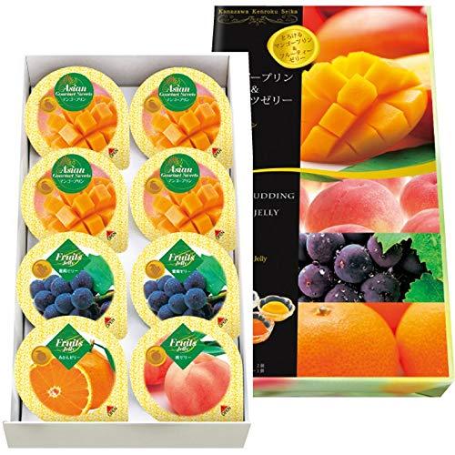 8個マンゴープリン&フルーツゼリーギフト MF-8 【果物 くだもの 詰め合わせ つめあわせ お菓子 おかし おやつ スイーツ おしゃれ お取り寄せ グルメ おいしい 美味しい うまい】