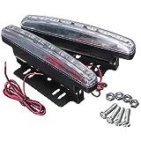 フォグライト,SODIAL(R)2x通用8LED 車の昼間ランニングデイライトDRL フォグライトランプ
