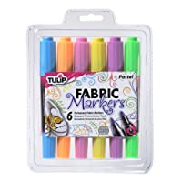 Tulip Dual-Tip Fabric Markers-Neons by Tulip