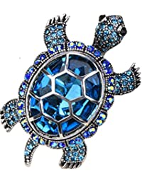 Christineen Guaridan Big Turtle Stretch Bling Cocktail Fashion Ring Scarf Ring Buckle Clip Jewellery for Women