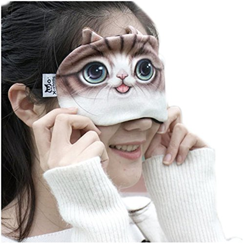 (ハッピー・ライフ)Happylife アイマスク 安眠 かわいい 快眠アイマスク 猫ちゃん 温冷両用アイマスク 3#