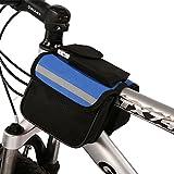 Aucute 自転車用ズックサイドバック 取り付け簡単 軽量便利 網袋と携帯袋付 中短距離ツーリングバック