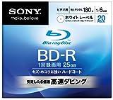SONY ブルーレイディスク ビデオ用BD-R 追記型 片面1層25GB 6倍速 プリンタブル 20枚P 20BNR1VCPS6
