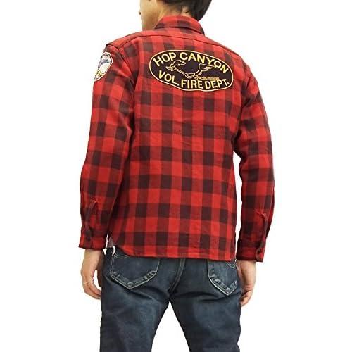 (トイズマッコイ) TOYS McCOY ワークシャツ TMS1520 ロードランナー チェック 長袖シャツ レッド (16(メンズLサイズ))