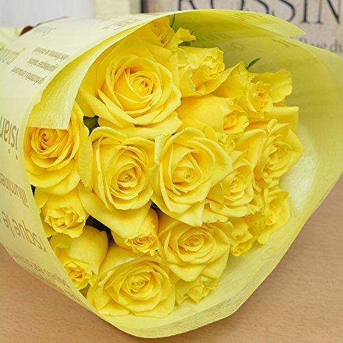 バラの花束 30本 カラー:イエロー 黄色 フラワーギフト 生花 誕生日 還暦 退職 結婚 プレゼント 贈り物