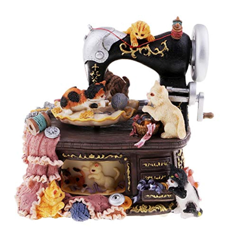 FLAMEER ヴィンテージ ミシンオルゴール 創造的 飾り 置物 可愛い  誕生日 贈り物